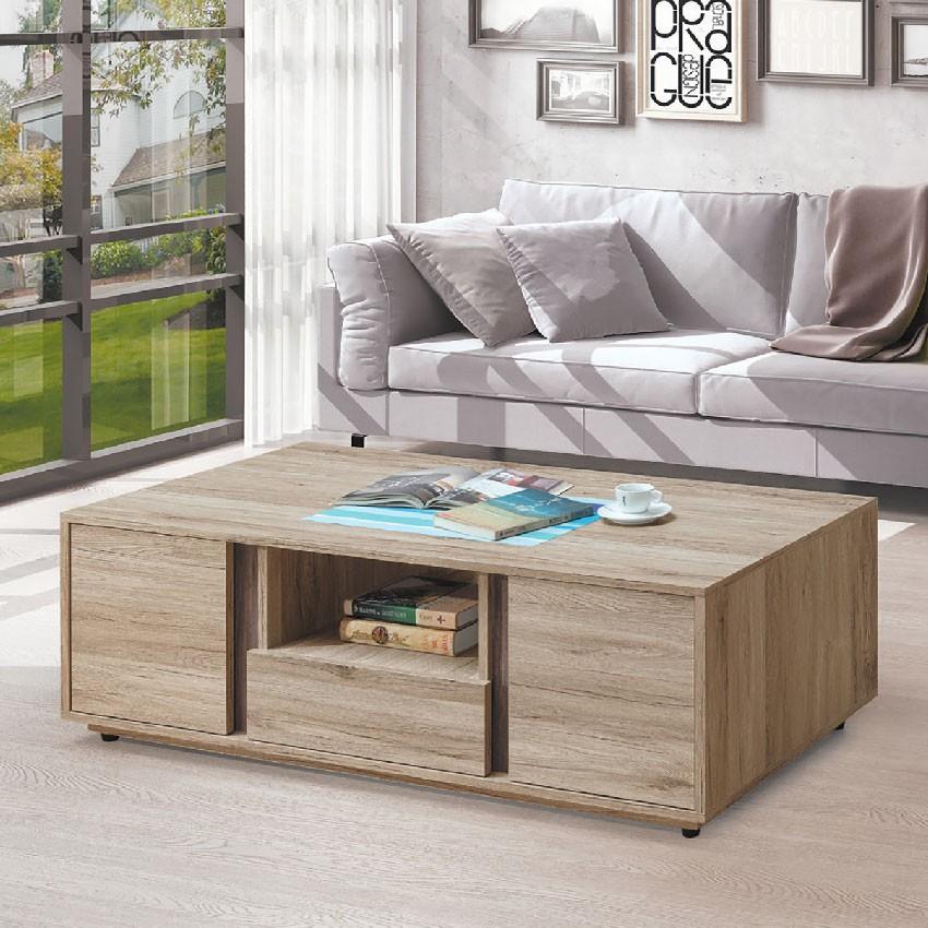 【121cm大茶几-E368-2】實木原木玻璃 大理石長方桌 大小邊几 圓桌 【金滿屋】