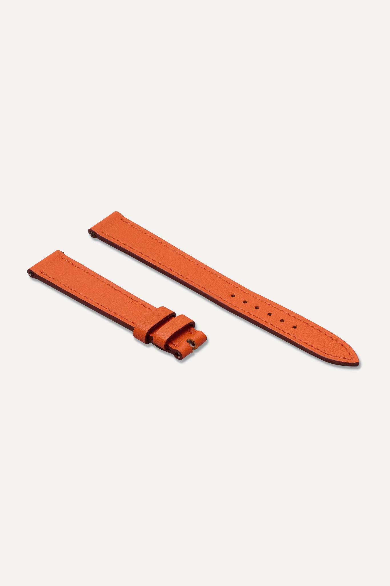 HERMÈS TIMEPIECES - Cape Cod Single Tour 23mm Leather Watch Strap - Gold - Black Barenia - Short