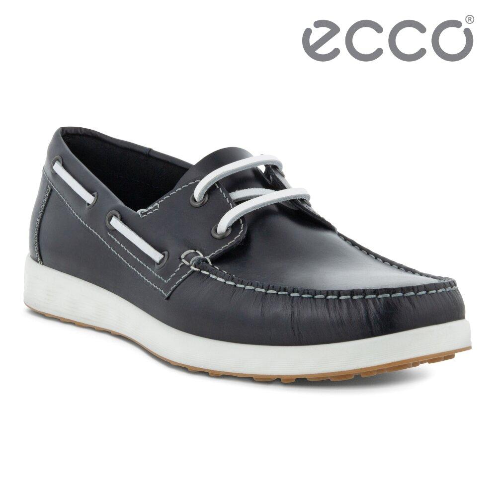 ECCO S LITE MOC M 輕巧牛津休閒皮鞋 男鞋(海軍藍 54052401058)