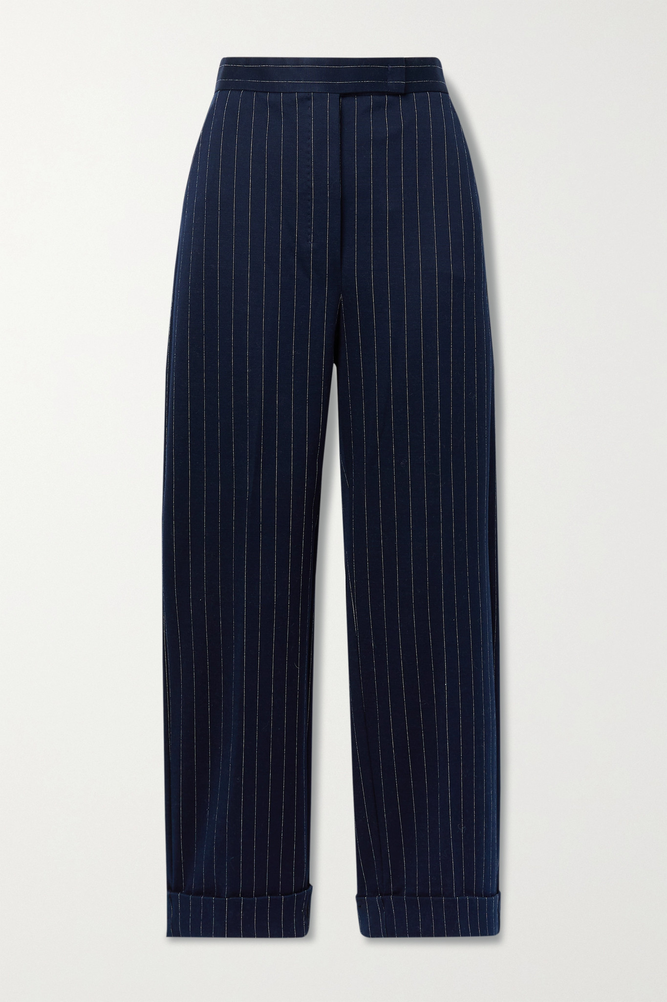 MAX MARA - Valanga 细条纹弹力棉质混纺直筒裤 - 蓝色 - UK4