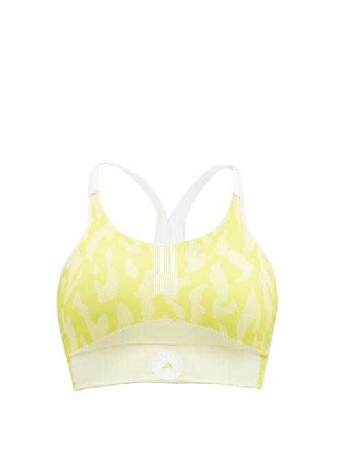 Adidas By Stella Mccartney - Truepurpose Low-impact Recycled-fibre Sports Bra - Womens - Yellow