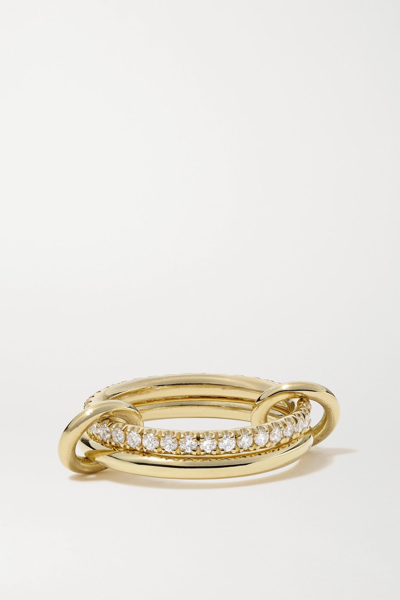 SPINELLI KILCOLLIN - Ceres Deux Set Of Two 18-karat Gold Diamond Rings - 5