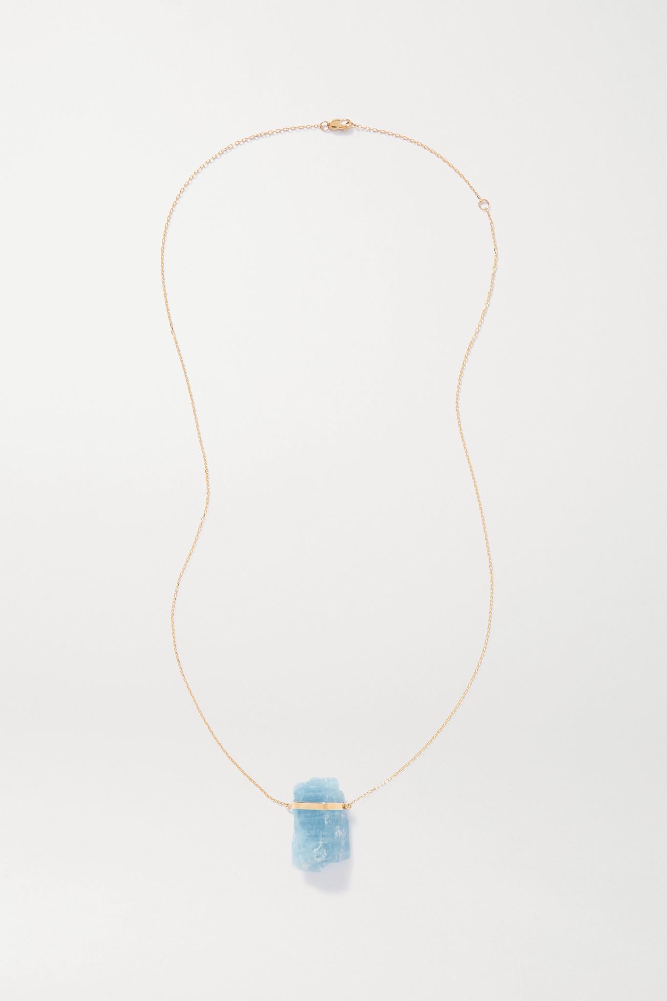 JIA JIA - 14-karat Gold Aquamarine Necklace - Blue - one size