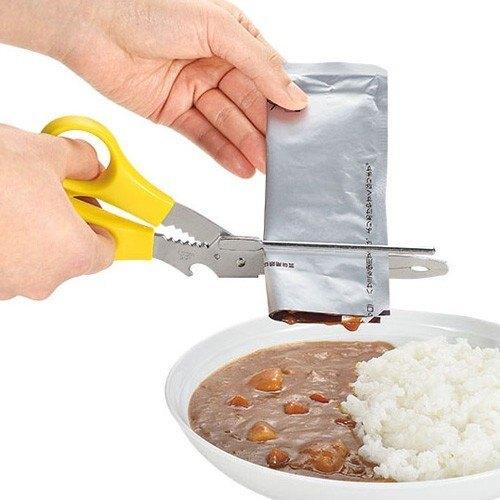 現貨 日本製 下村工業 KR-403 多功能 廚房剪刀 調理包 開封 擠壓夾 開罐器 料理夾 不鏽鋼 可拆洗