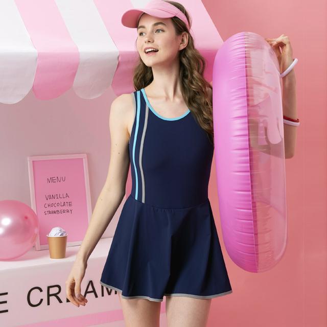 沙兒斯連身裙女泳裝B982002-3L號