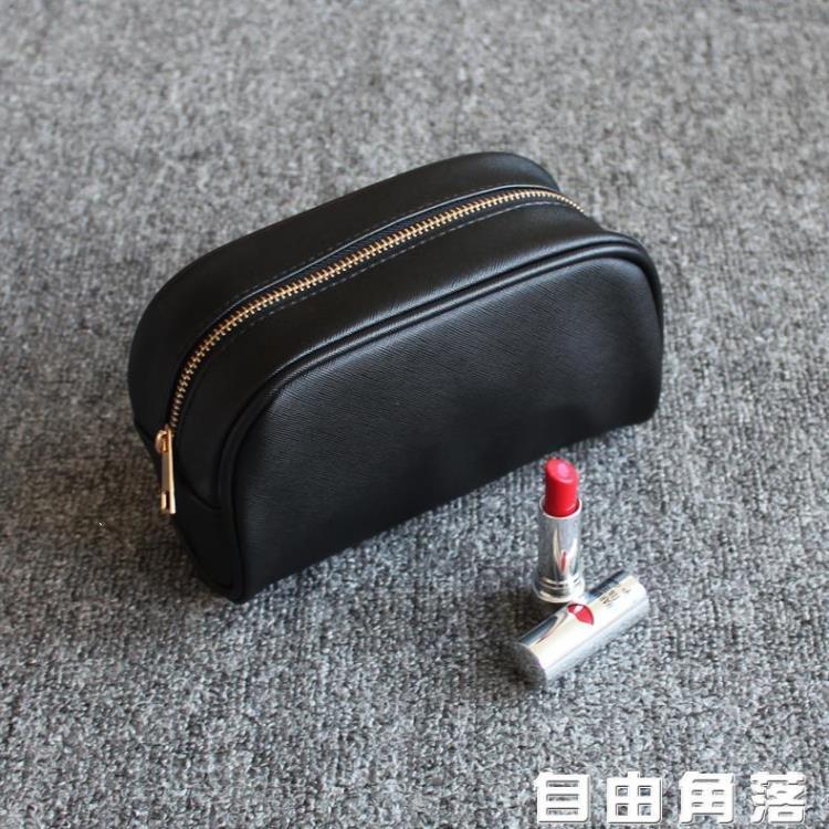 便攜化妝包韓國簡約黑色PU旅行防水大容量化妝品護膚品收納包