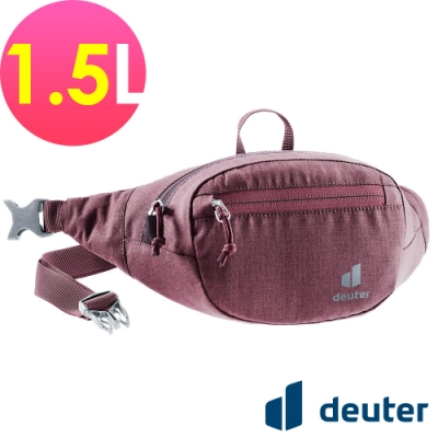 【deuter 德國】BELT I 1.5L休閒輕量腰包3900121暗紅/胸包/側背包/路跑/慢跑