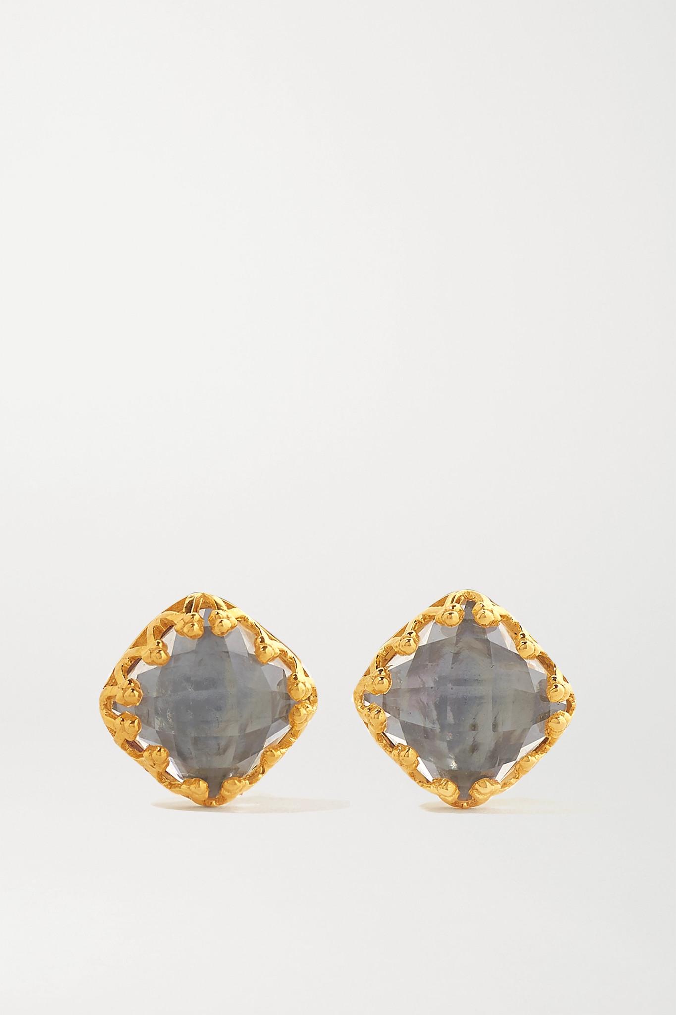 LARKSPUR & HAWK - Jane 18-karat Gold-dipped Quartz Earrings - one size