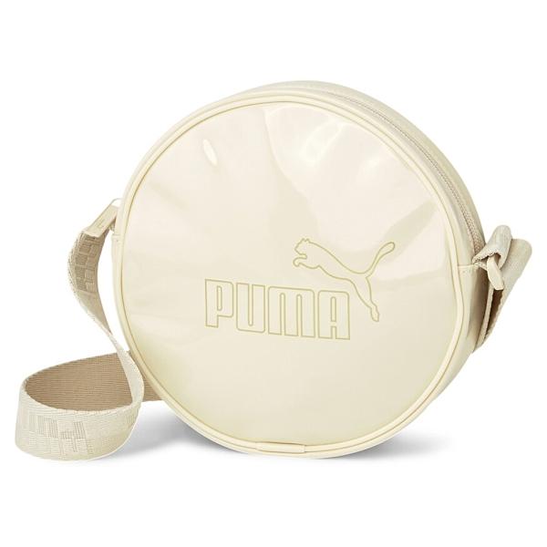 PUMA 包 側背 圓形 小包 粉膚色 漆皮 金標 串標背帶 (布魯克林) 07811502