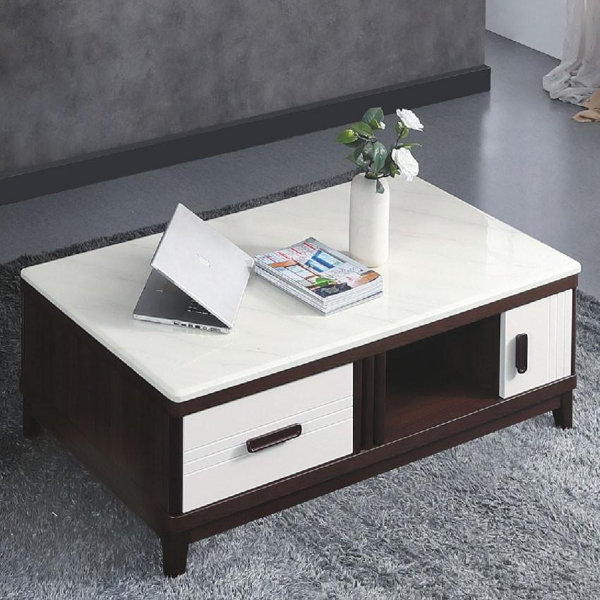 【140cm茶几-E372-6】實木原木玻璃 大理石長方桌 大小邊几 圓桌 【金滿屋】