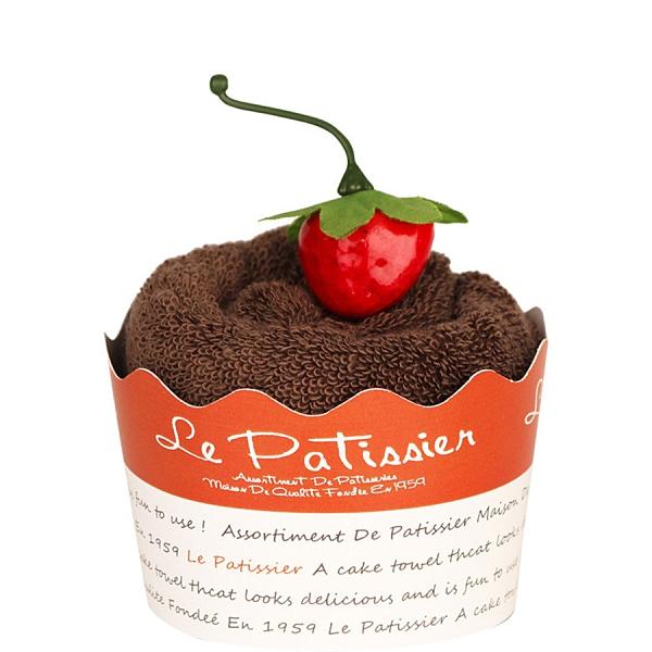 【日本製】【Le patissier】日本製 今治毛巾 杯子蛋糕造型 咖啡色 SD-3966 - 日本製 今治毛巾