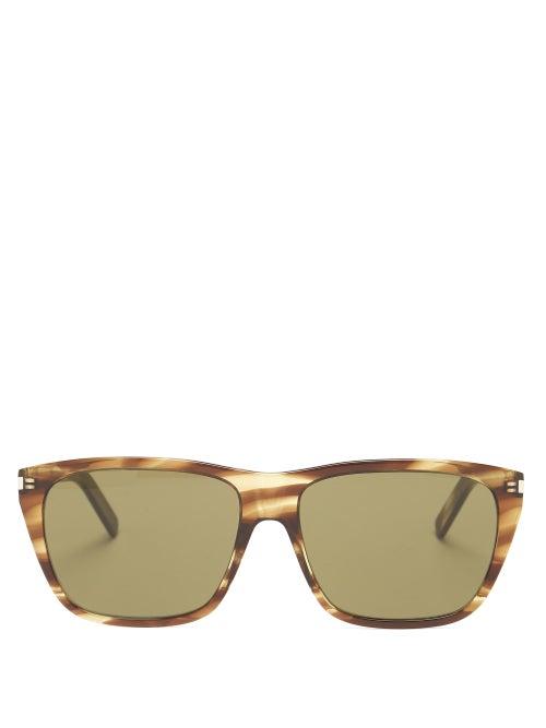 Saint Laurent - Square Tortoiseshell-acetate Sunglasses - Mens - Tortoiseshell