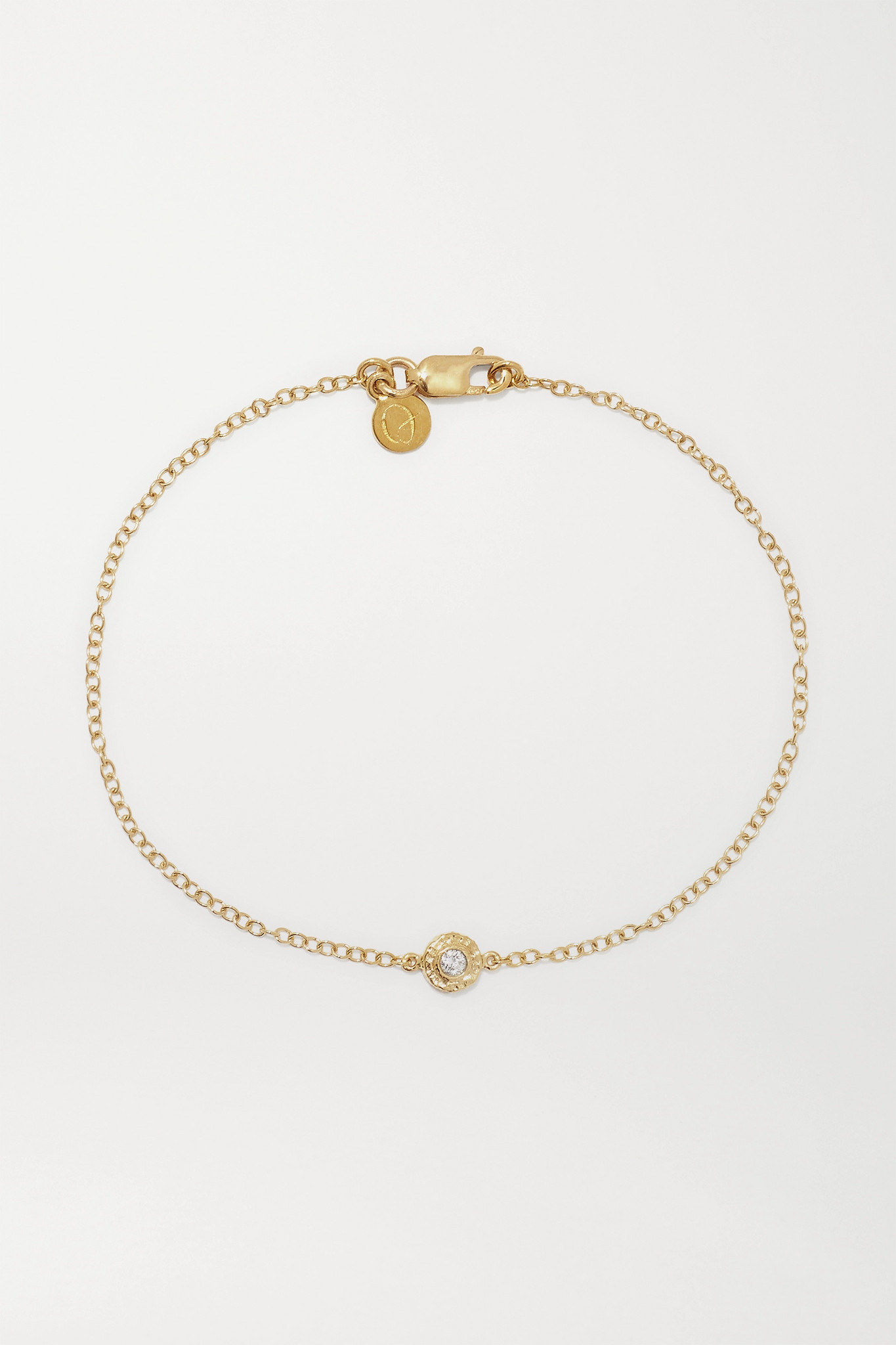 OCTAVIA ELIZABETH - 【net Sustain】nesting Gem 18k 回收黄金钻石手链 - 金色 - one size