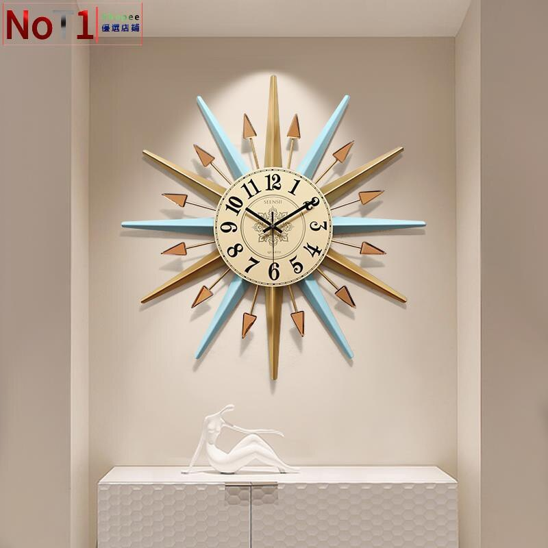 鐘飾-鐘表掛鐘客廳北歐時尚創意掛鐘臥室家用掛表現代簡約個性大氣時鐘 愛尚優品 全館85折