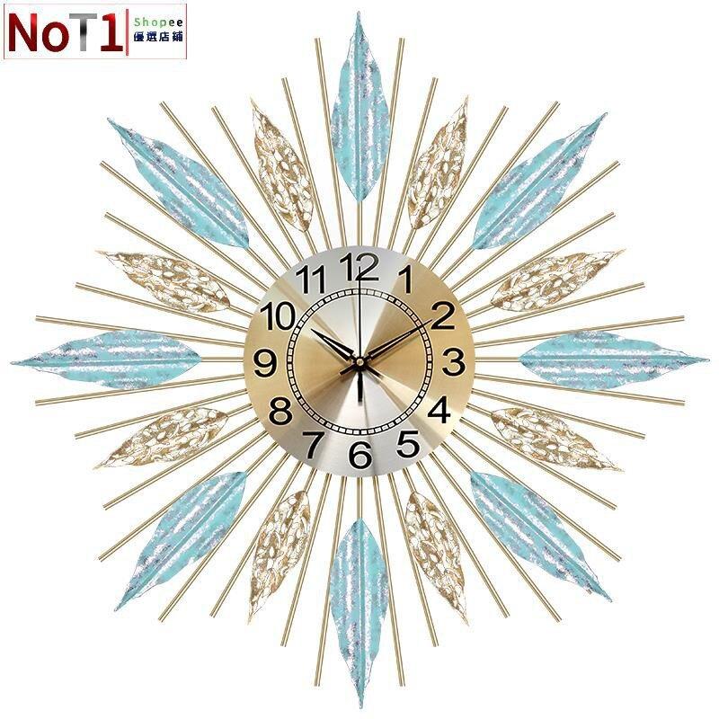 鐘飾-北歐掛鐘客廳創意鐘表個性時鐘臥室表掛墻簡約家用鐘飾輕奢裝飾鐘 愛尚優品 全館85折