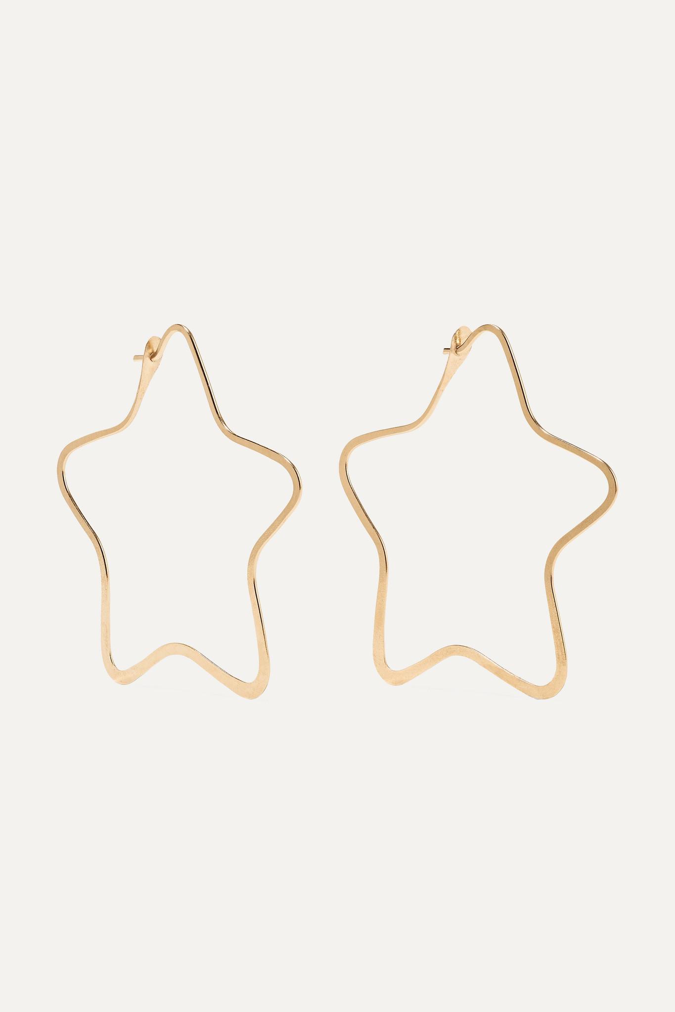 MELISSA JOY MANNING - 14-karat Gold Hoop Earrings - one size