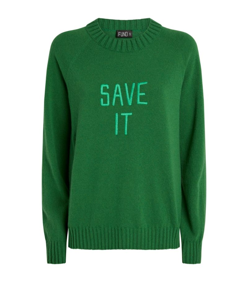 Fund Wool Save It Slogan Sweater