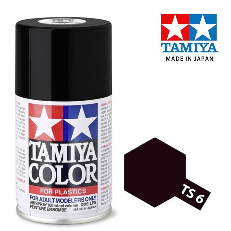 【鋼普拉】現貨 TAMIYA 田宮 模型 噴漆 噴罐 油性漆 85006 TS6 TS-6 消光黑色100ml