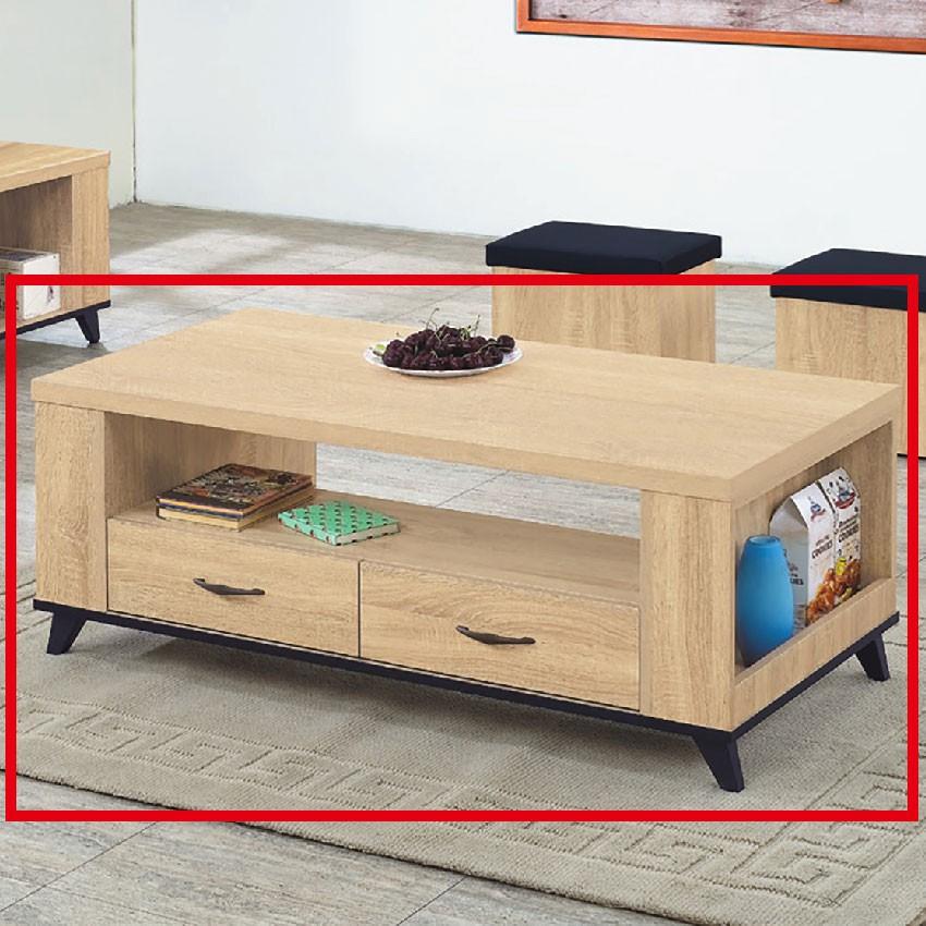 【121cm大茶几-E369-5】實木原木玻璃 大理石長方桌 大小邊几 圓桌 【金滿屋】