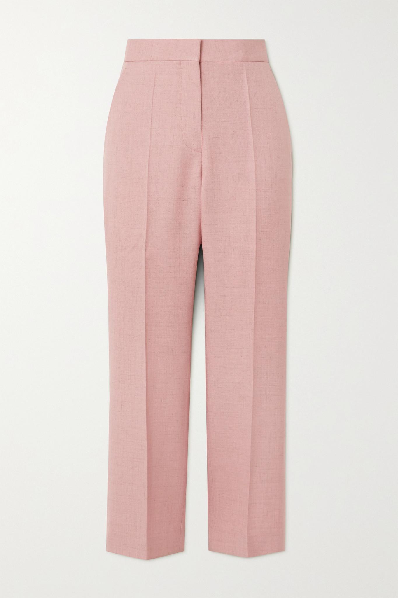 STELLA MCCARTNEY - Carlie Cropped Woven Straight-leg Pants - Pink - IT38
