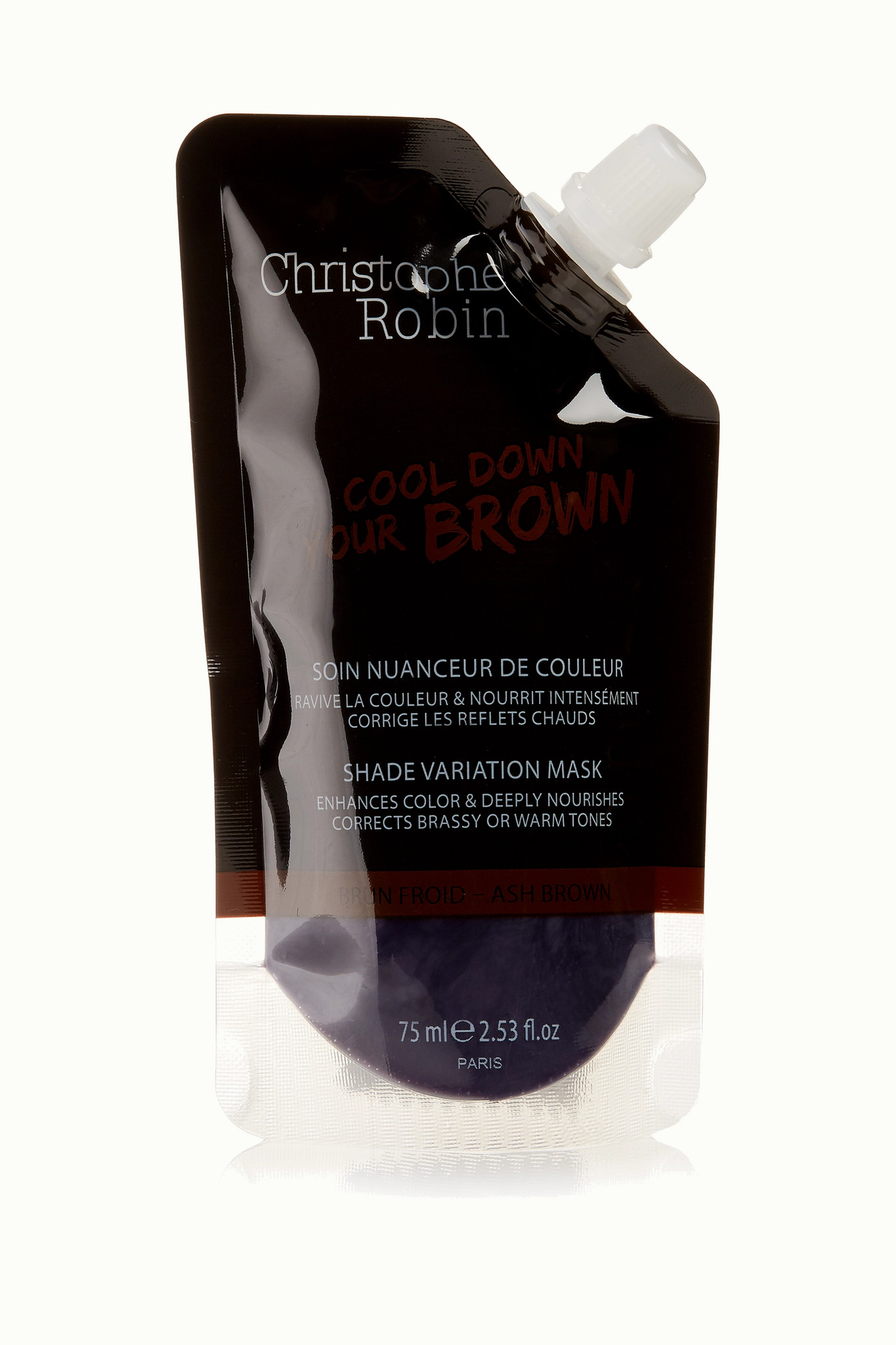 CHRISTOPHE ROBIN - Shade Variation Mask - Ash Brown, 75ml - Purple - one size