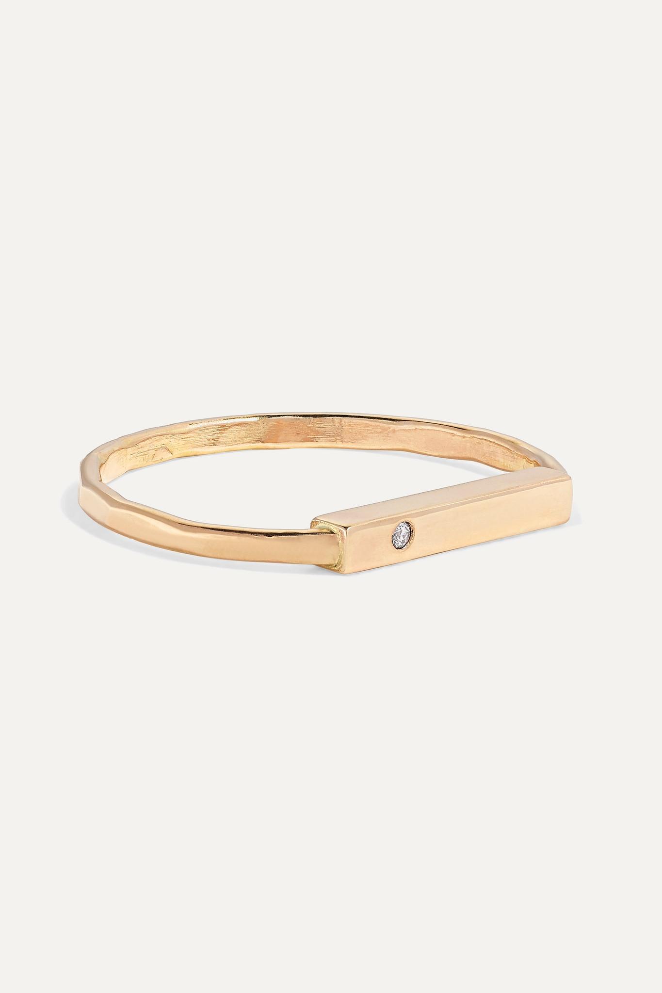 MELISSA JOY MANNING - 【net Sustain】14k 黄金钻石戒指 - 金色 - 5