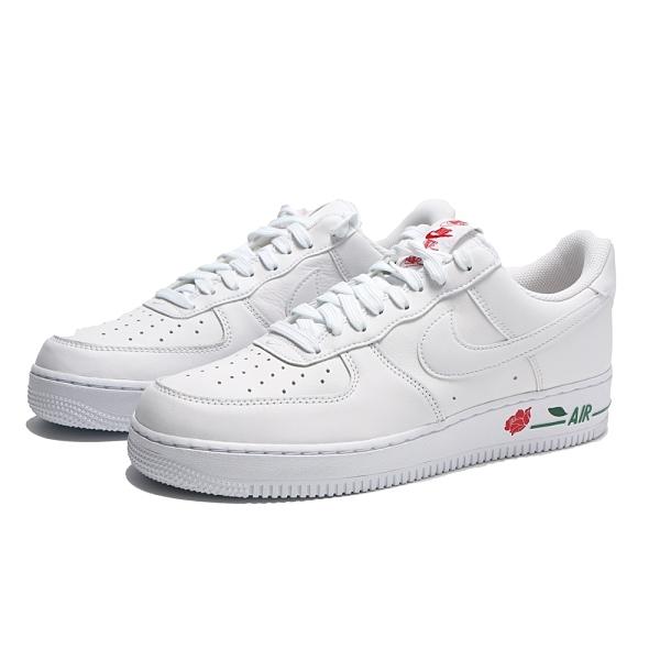 NIKE 休閒鞋 AIR FORCE 1 全白 玫瑰 情侶鞋 男女 (布魯克林) CU6312-100