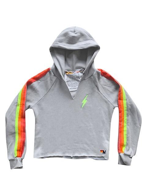 Rainbow Stripe Pullover Hoodie