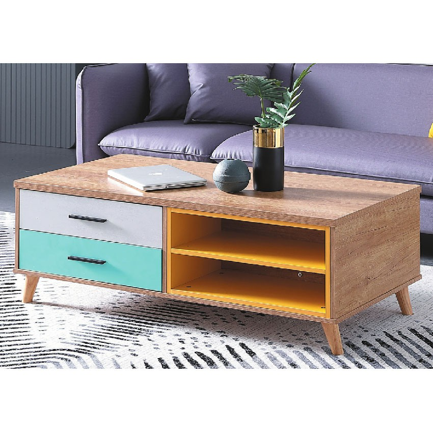 【120cm茶几-E384-5】實木原木玻璃 大理石長方桌 大小邊几 圓桌 【金滿屋】