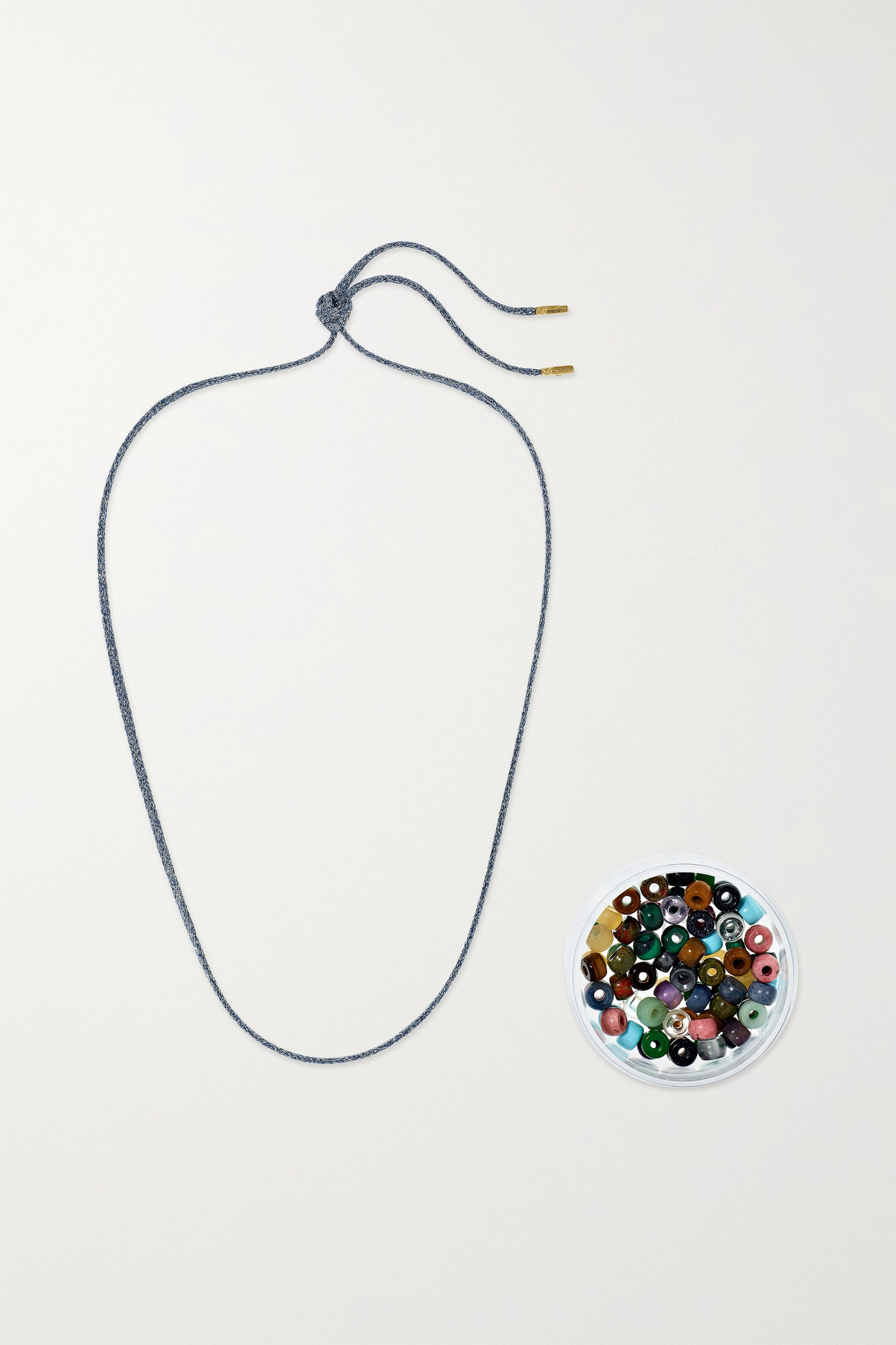 CAROLINA BUCCI - Forte Beads 18-karat Gold And Lurex Multi-stone Necklace Kit - Metallic - one size