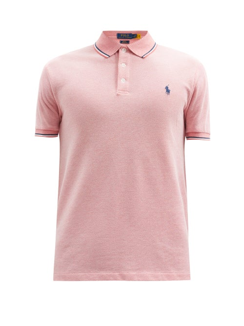 Polo Ralph Lauren - Slim-fit Cotton-blend Piqué Polo Shirt - Mens - Dark Pink