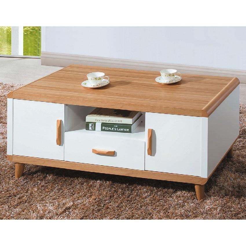 【121cm大茶几-E382-3】實木原木玻璃 大理石長方桌 大小邊几 圓桌 【金滿屋】
