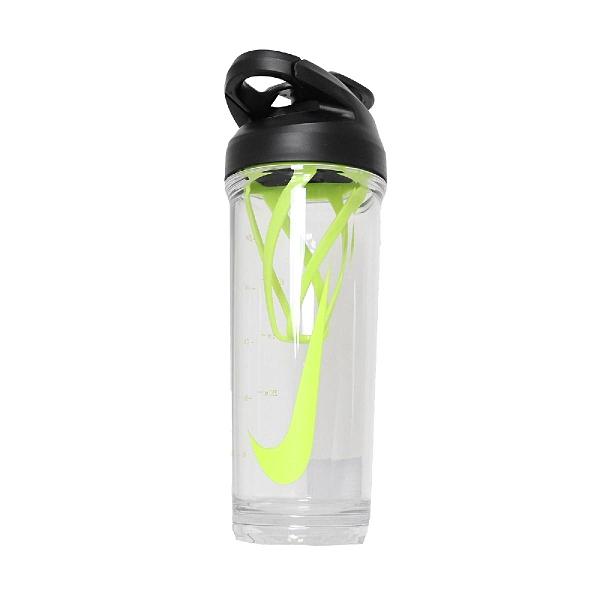 Nike 水壺 TR Hypercharge Shaker Bottle 24oz 709ml 綠 黑 透明 雪克水壺 健身 【ACS】 N100010693-624