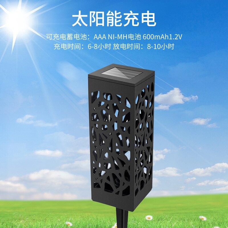 戶外防水太陽能燈 鏤空創意 白光 暖光LED光控感應草坪庭院景觀燈 全館八八折