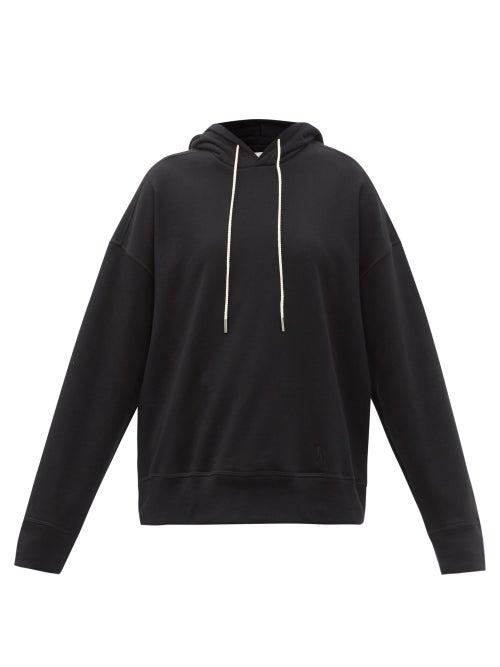 Jil Sander - Dropped-shoulder Cotton-jersey Hooded Sweatshirt - Womens - Black