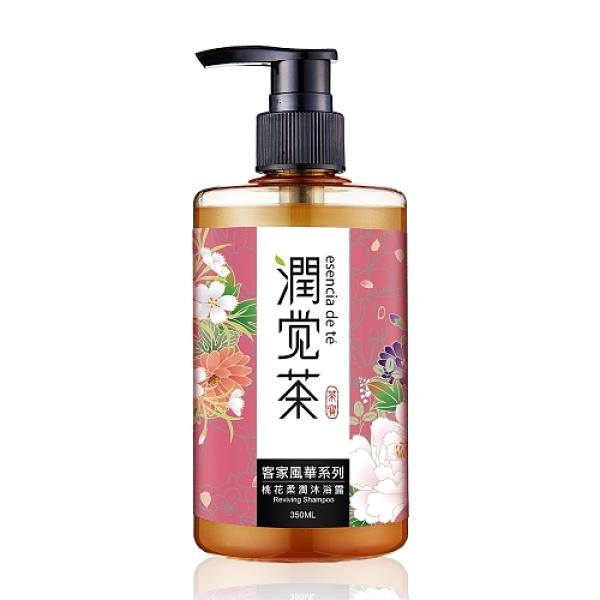 【茶寶 潤覺茶】客家風華桃花植潤沐浴露350ml-波比元氣