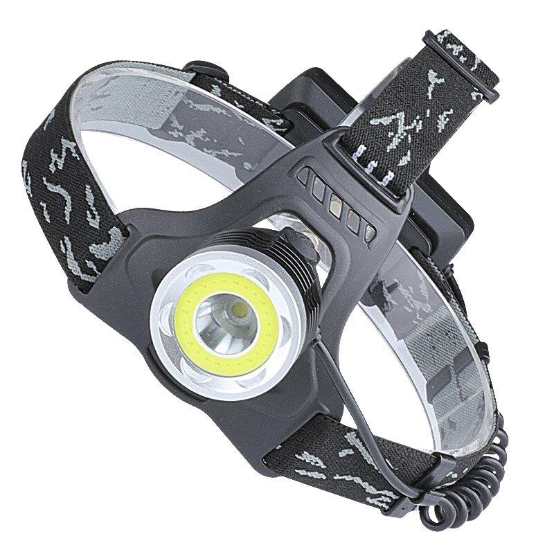 跨境LED戶外強光P50大功率聚光定焦頭燈18650鋰電池供電USB充電 全館八八折