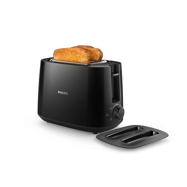 飛利浦PHILIPS 電子智慧型厚片烤麵包機-黑色