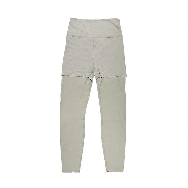 Nike 長褲 Yoga Luxe Layered 7/8 Leggings 綠 女款 緊身褲 內搭褲 瑜珈 運動休閒 【ACS】 DA0730-320