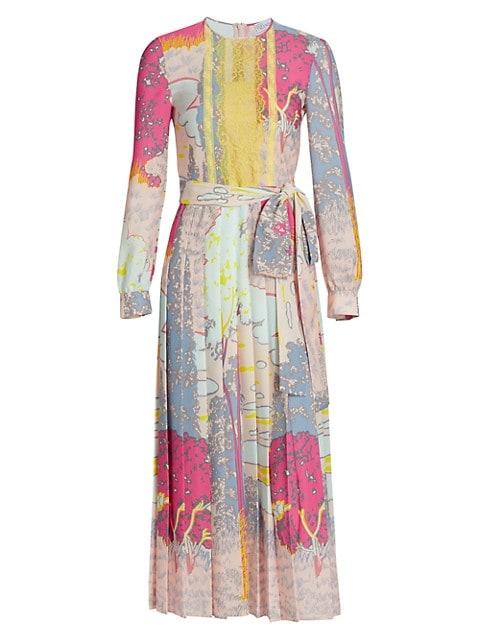 Patchwork Tie-Waist Dress