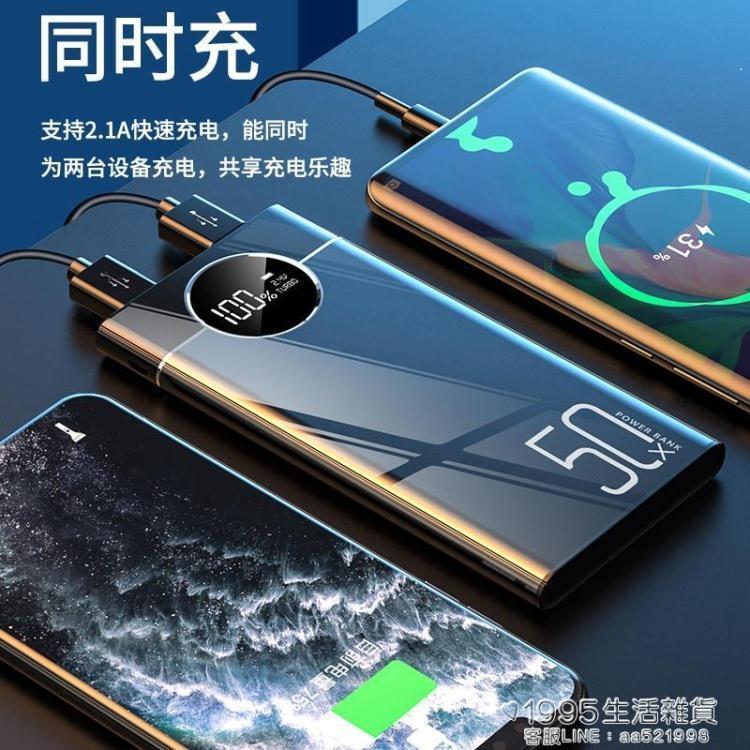 超大容量80000M電源超薄小巧便攜20000毫安蘋果安卓專用快充手機通用 凡卡時尚