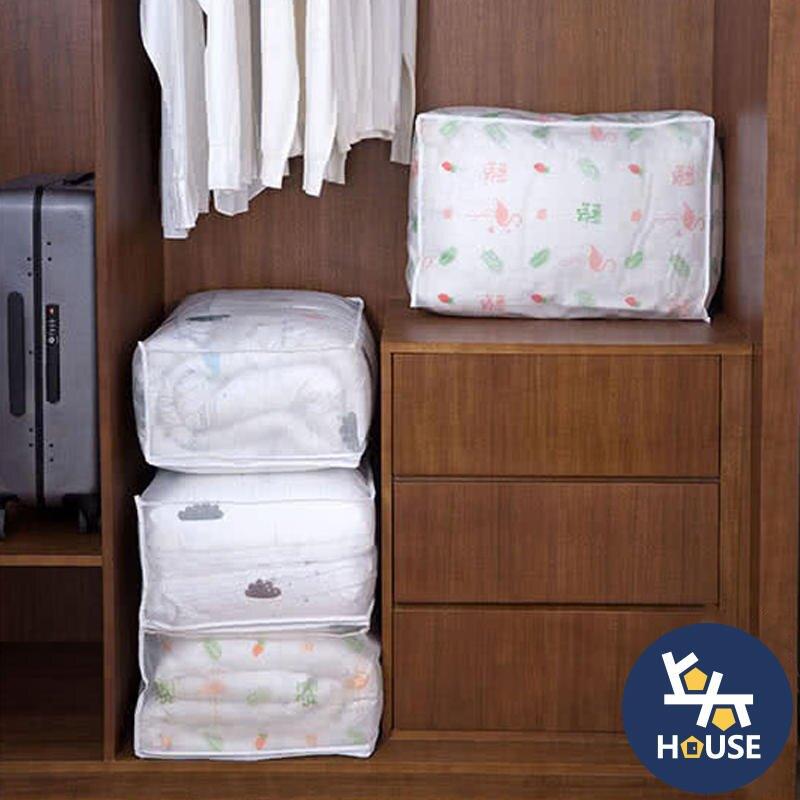 台灣現貨 防塵防潮棉被收納袋 PEVA防水棉被收納袋 衣物收納袋 搬家衣物整理 冬被收納【HF0400】上大HOUSE