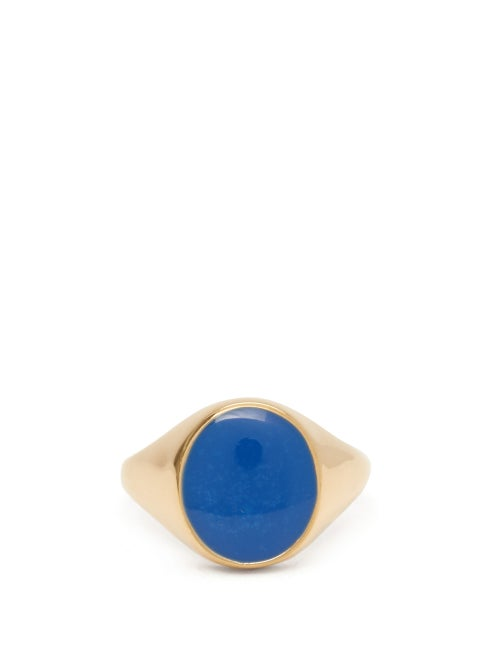 Miansai - Heritage Gold-vermeil Ring - Mens - Blue Gold