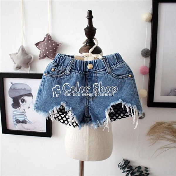 女童短褲夏季2021新款童裝兒童牛仔短褲子小童寶寶女孩短褲1-3-8 快速出貨