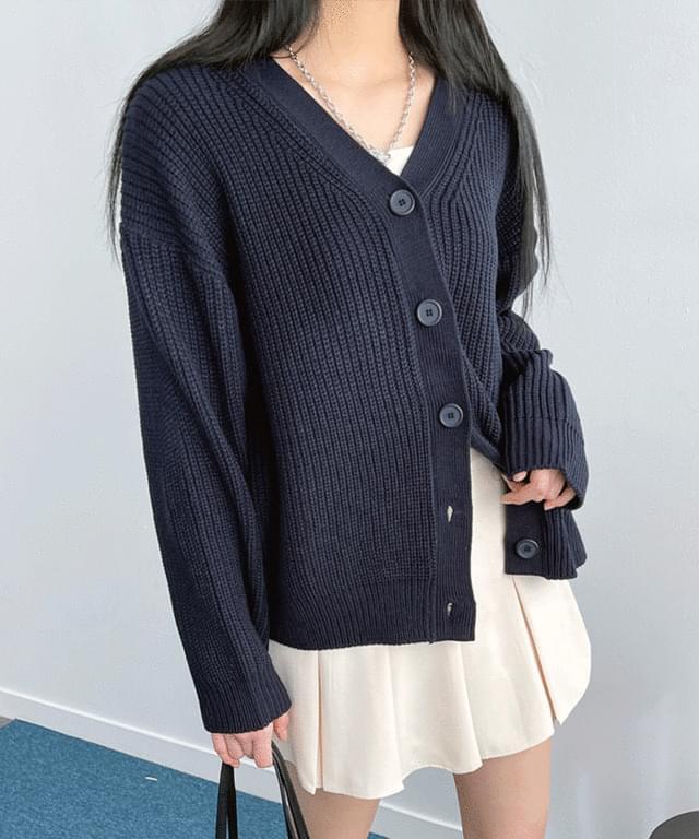 韓國空運 - Giselle Boxy-fit balloon cardigan 針織外套