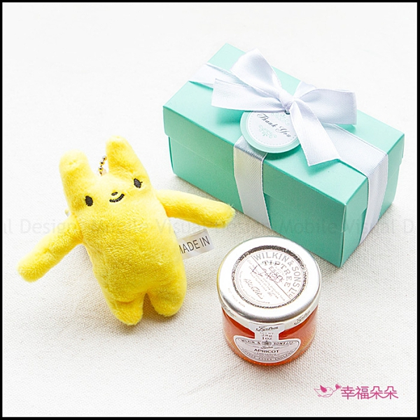 Double Love Tiffany盒裝 多彩綿綿兔(多色隨機)+果醬小禮盒 遊戲抽獎 婚禮小物 情人節