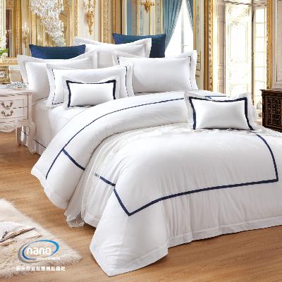 《純精梳美國棉+奈米銀》白色戀人-兩用被床包四件組(含奈米陶瓷)