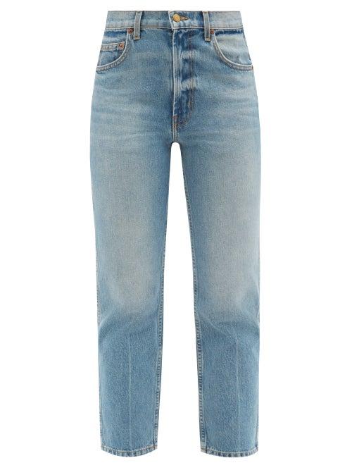 B Sides - Louis High-rise Cropped Straight-leg Jeans - Womens - Denim