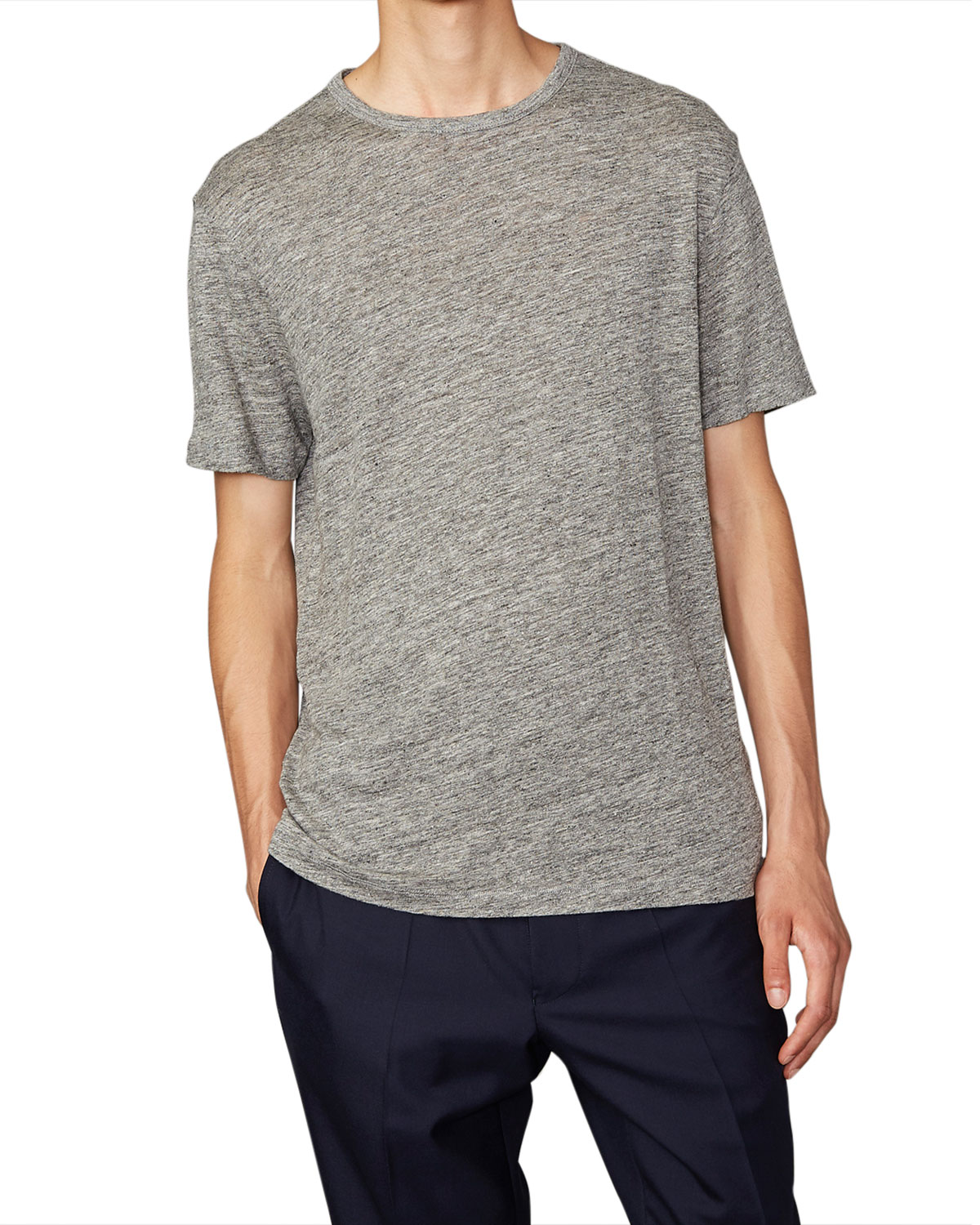 Men's Heathered Linen T-Shirt