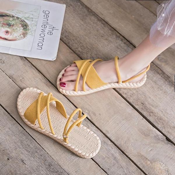一鞋兩穿女涼鞋2021年新款仙女風平底網紅時尚超火百搭夏天涼拖鞋 【開春特惠】
